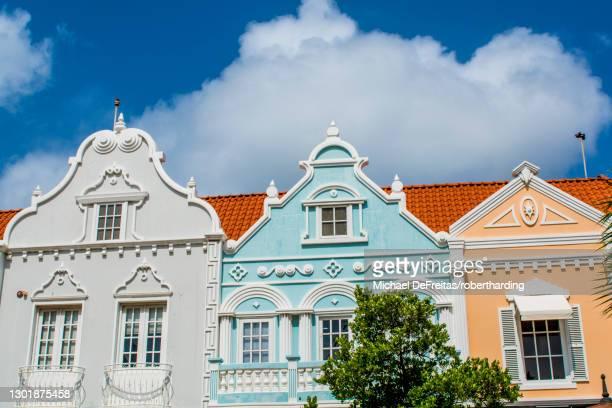 architecture, detail of buildings, oranjestad, aruba, abc islands, dutch antilles, caribbean, central america - オラニェスタット ストックフォトと画像