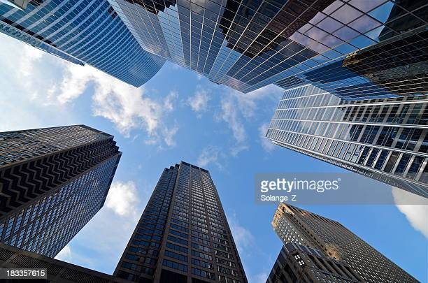 architecture detail - wacker drive stock photos and pictures