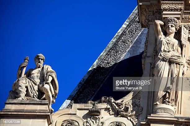 Architecture details of Museum Louvre