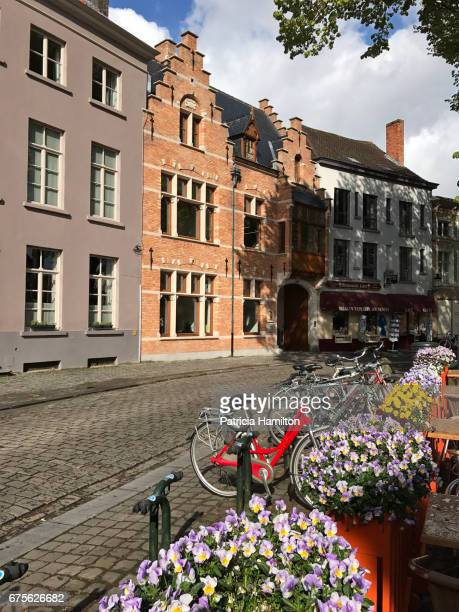 Architecture, flowers and bikes in Bruges