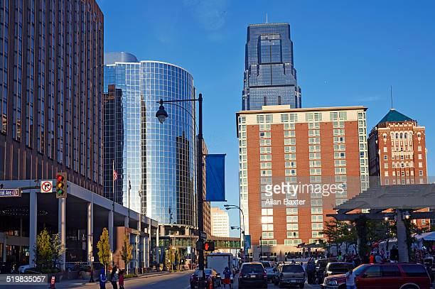 architecture in downtown kansas city - missouri stock pictures, royalty-free photos & images