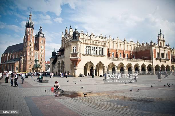 architecture in krakow, poland - polen stock-fotos und bilder