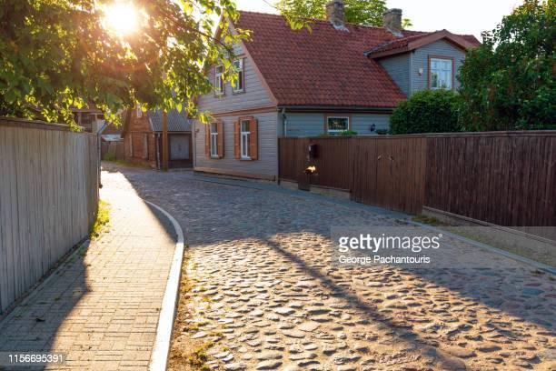 architecture in ventspils, latvia - lettland stock-fotos und bilder