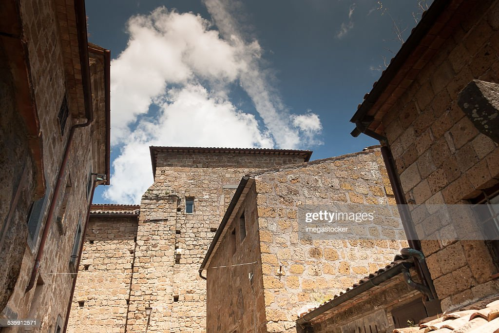 Architecture of Bagnoregio : Stock Photo
