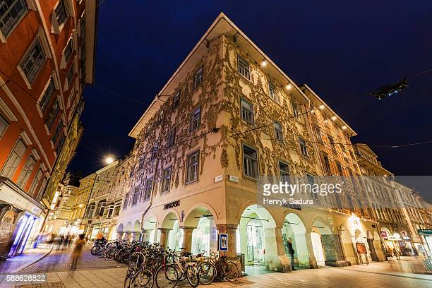 architecture of hauptplatz in graz - graz stock photos and pictures