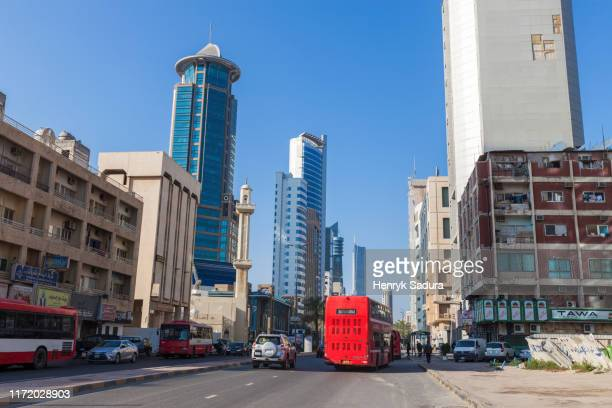 architecture of kuwait city - kuwait city stock pictures, royalty-free photos & images