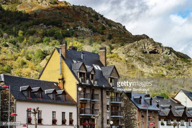 Architecture of little spanish city Bosost near France, Pyrenees