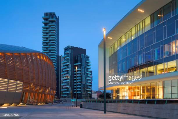 architecture of milan - milano foto e immagini stock
