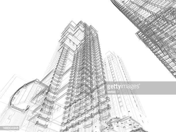 architecture sketch - sketch stock pictures, royalty-free photos & images