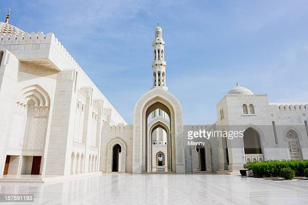 architecture sultan qaboos grand mosque - mosque stock pictures, royalty-free photos & images