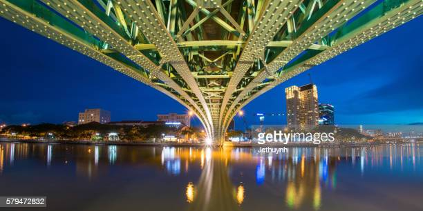 Architecture under Mong Bridge by night