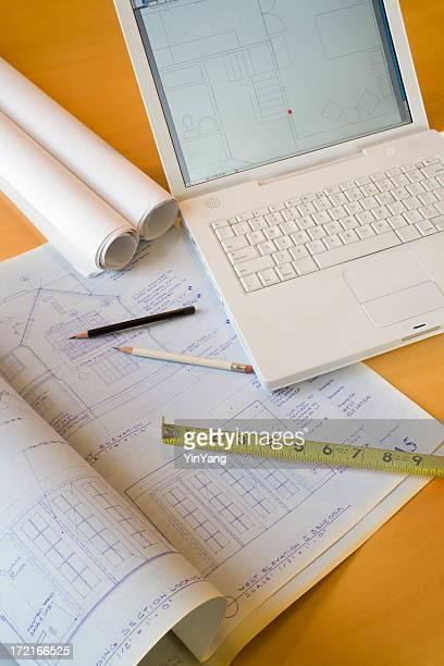Architecture-Laptop & Blueprints Vt