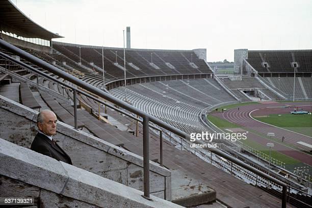 Architekt Politiker NSDAP D im Berliner Olympiastadion 1972