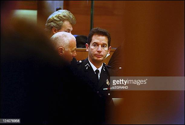 Archival footage of the former prefect of Corsica Bernard Bonnet for the opening of his trial In France On November 18 2001 Warrant Officer Dumont