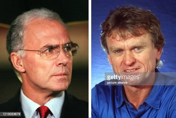 Archivbilder zeigen Franz Beckenbauer und Sepp Maier Franz Beckenbauer der 1974 als Spieler und 1990 als Teamchef mit der DFBAuswahl den...