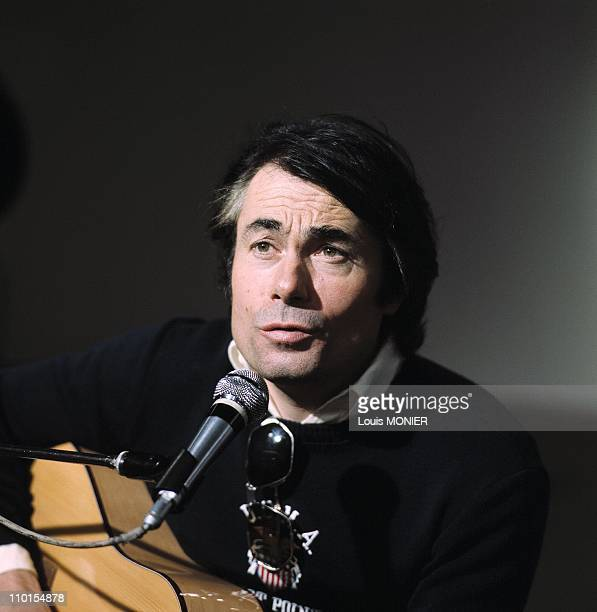 Archive The singer Alain Barriere in FrancePhoto archive