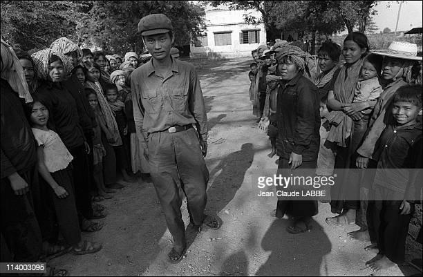 Archive: Vietnam-Cambodia war in Cambodia-Village near Phnom Penh after the fall.