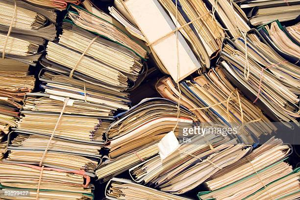 archive with neglected, old files - archives stock pictures, royalty-free photos & images