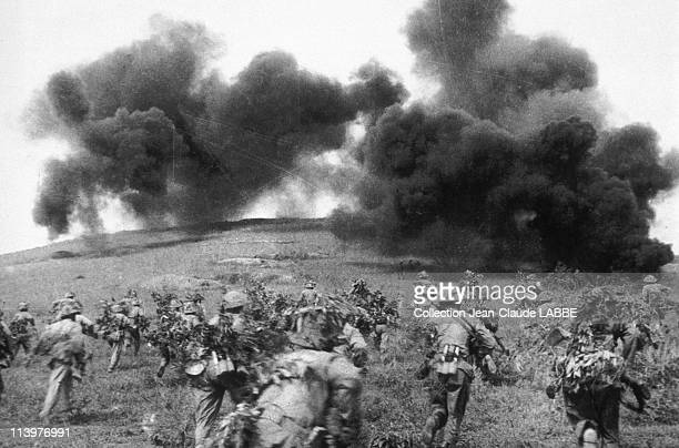 Archives: Dien Bien Phu Battle In Dien Bien Phu, Vietnam In May, 1954-March 30, 1994. The Vietminh storming E1 hill.