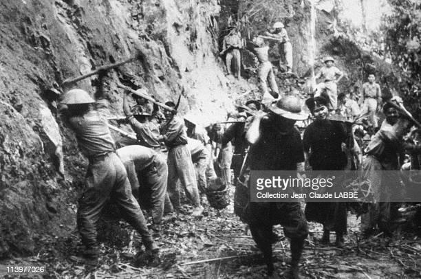 Archives Dien Bien Phu Battle In Dien Bien Phu Vietnam In May 1954Troops and Dan Cong building a road to Dien Bien Phu