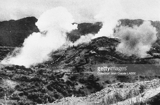 Archives: Dien Bien Phu Battle In Dien Bien Phu, Vietnam In May, 1954-Vietminh attack backed by artillery fire.