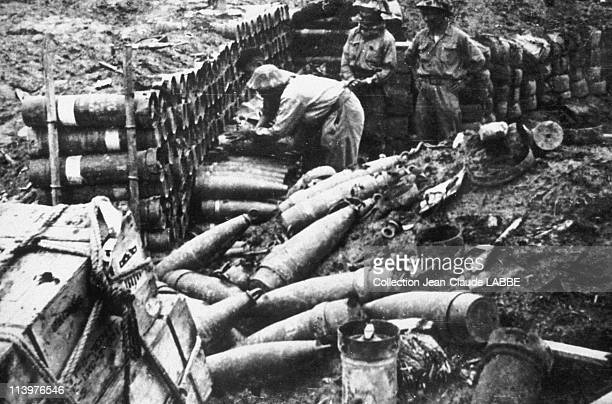 Archives: Dien Bien Phu Battle In Dien Bien Phu, Vietnam In May, 1954-French ammunition seized by the Vietminh.