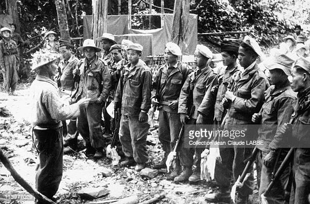 Archives: Dien Bien Phu Battle In Dien Bien Phu, Vietnam In May, 1954-Vietnamese serving in the French army about to be discharged.