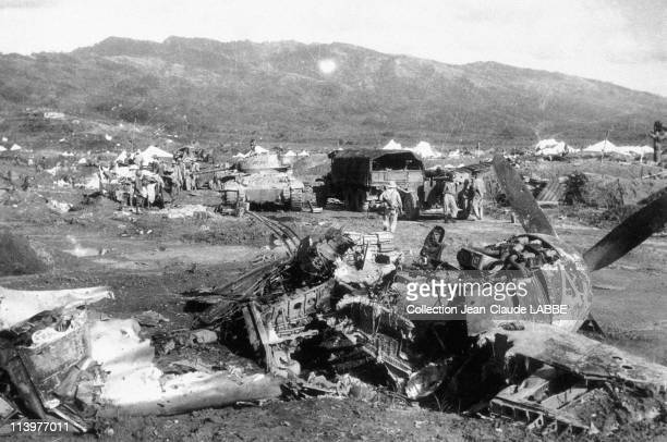 Archives Dien Bien Phu Battle In Dien Bien Phu Vietnam In May 1954French plane and artillery during the attack on Muong Thanh