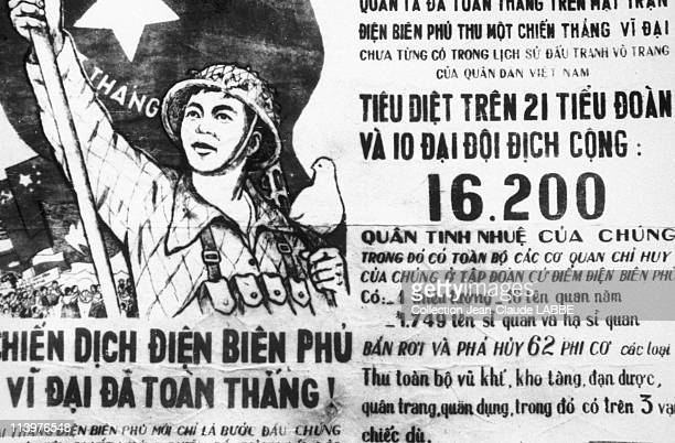Archives: Dien Bien Phu Battle In Dien Bien Phu, Vietnam In May, 1954-Propaganda poster.