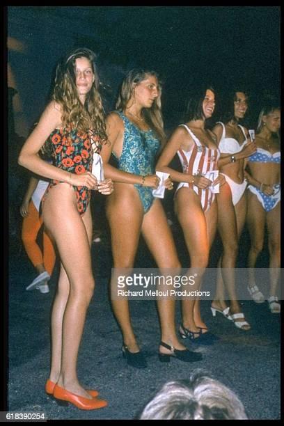 Archives: Laetitia Casta taking part in Miss Corsica.