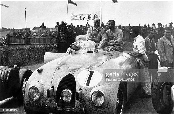 Archives of Ettore Bugatti in Italy on September 10 1991 24hours of Le Mans Winners Bugatti 57 C JeanPierre Wimille and Pierre Veyron