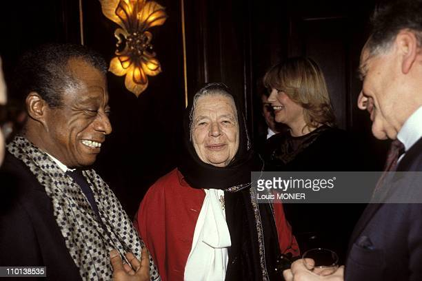 Archives: The writer Marguerite Yourcenar in France in April, 1997 - James Baldwin and Marguerite Yourcenar