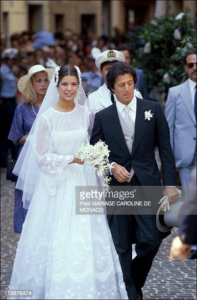 Archives Wedding of Caroline and PJunot Mariage cancelled by the vantican In Monaco city Monaco On July 01 1992