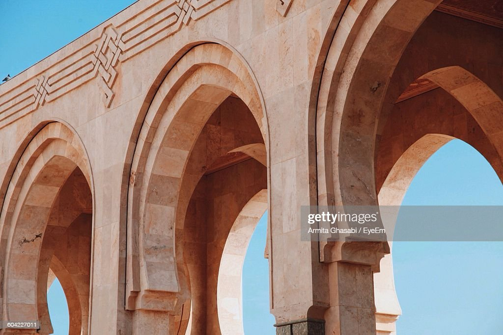Archway At Mosque Hassan Ii : Stock Photo