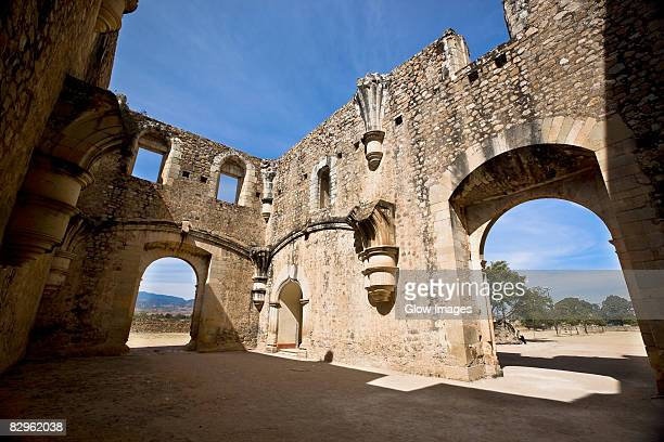 archway of a church, cuilapan monastery, oaxaca, oaxaca state, mexico - cuilapan stock photos and pictures