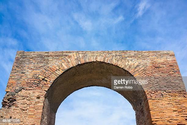 Archway ruin, Pompeii, Campania, Italy