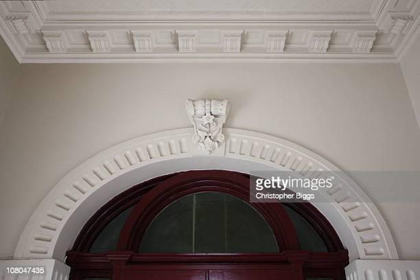 Archway with ornate keystone