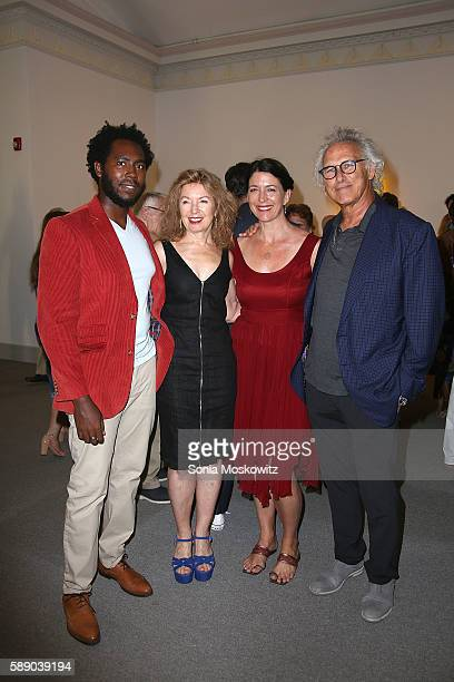 Arcnmanoro Niles April Gornick Margaret Garrett and Eric Fischl attend the 2016 Summer Gala at Guild Hall on August 12 2016 in East Hampton New York