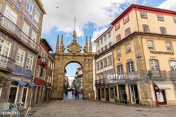'Arco da Porta Nova' in Braga, Portugal