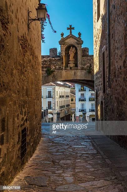 Arco de la Estrella, traditional entrance to the monumental city of Caceres