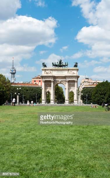 Arco della Pace, Porta Sempione, Milan, Italy