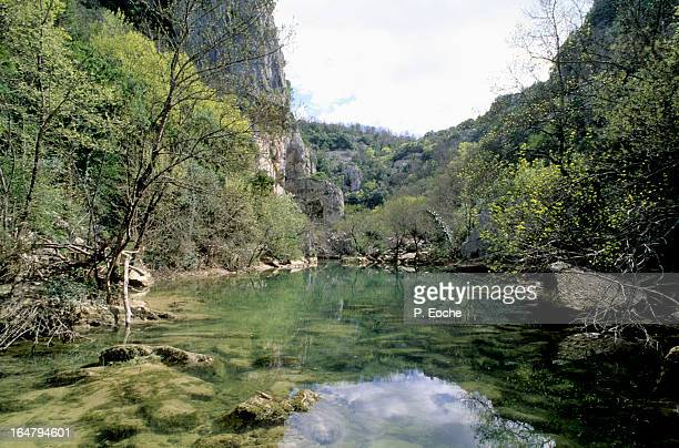 arcs of the ravine is a narrow canyon - herault stock pictures, royalty-free photos & images