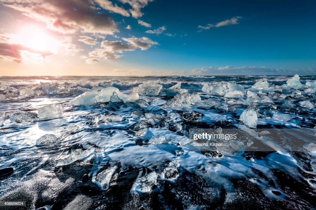 Arctic Beach Sunrise : Stock Photo