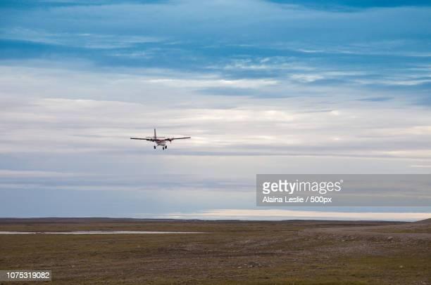 Arctic Charter Flight lands in overcast weather