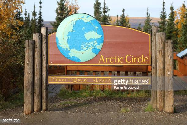 arctic circle at dalton highway - rainer grosskopf stock pictures, royalty-free photos & images