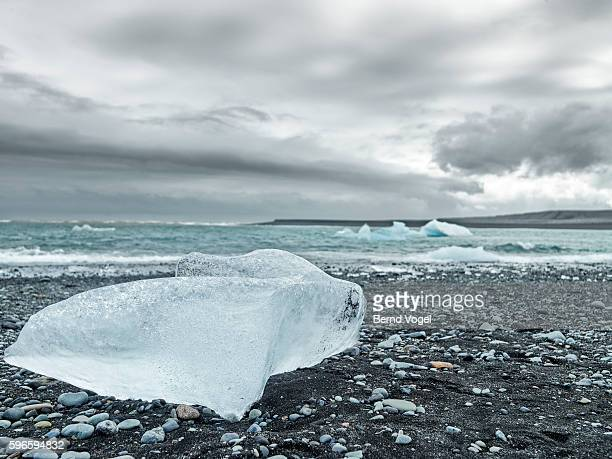 arctic coastline, iceland - pack ice stock pictures, royalty-free photos & images