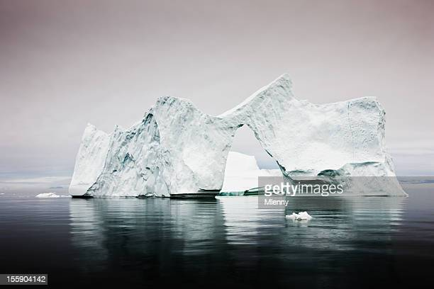 Arctic Iceberg with Natural Arch West Greenland