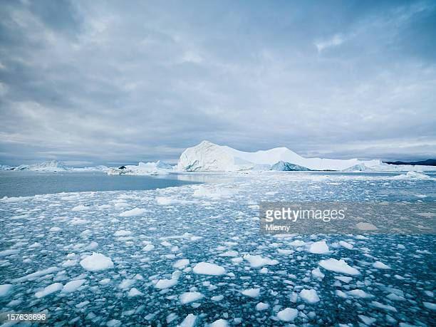 arctic landscape greenland icebergs xxxl - north pole stock pictures, royalty-free photos & images