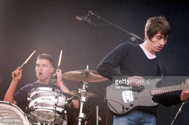 Arctic Monkeys, Alex Turner, Matt Helders, Pinkpop Festival, Landgraaf, Netherlands, 28th May 2007.