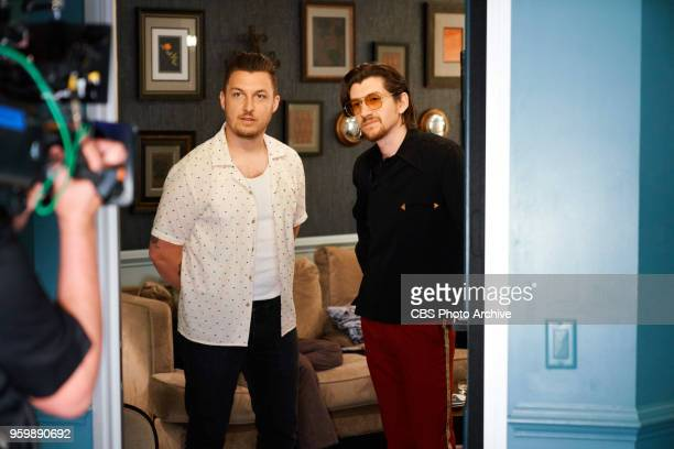 Arctic Monkeys checks in from the green room with James Corden during 'The Late Late Show with James Corden' Monday May 14 2018 On The CBS Television...
